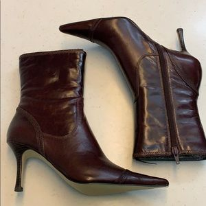 Nine West ianthero brown leather boots sz. 7.5